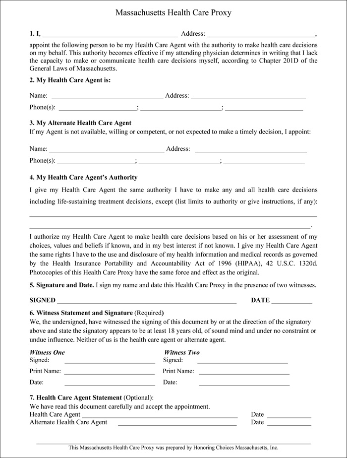 Stunning Health Care Proxy Form Pictures  Best Resume Examples